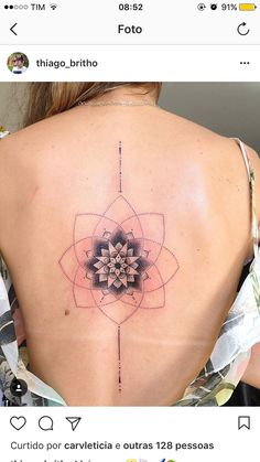 Back Tattoos, Life Tattoos, Body Art Tattoos, Cool Tattoos, Tatoos, Piercing Tattoo, I Tattoo, Mandala Tattoo Back, Art Graphique