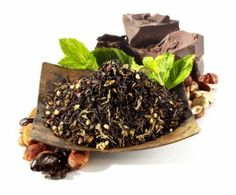 Cacao Mint Black Tea. -  Blends well with MatéVana Herbal Tea, Golden Monkey Black Tea, & French Spice Quartet Oolong.