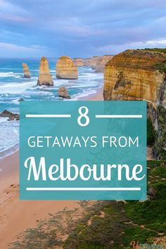 8 Exciting Places to visit near Melbourne (Less than three hours away) Is Melbourne on your Australia bucket list? But here are 8 fantastic getaway destinations once you're done with the city! Visit Australia, Melbourne Australia, Australia Travel, Queensland Australia, South Australia, Brisbane, Great Barrier Reef, Best Beaches To Visit, Places To Visit