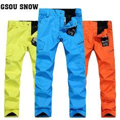 Gsou Snow ski pants men outdoor winter warm waterproof windproof snowboard pants ski pants men #Affiliate