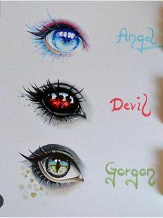 angel, devil and gorgon