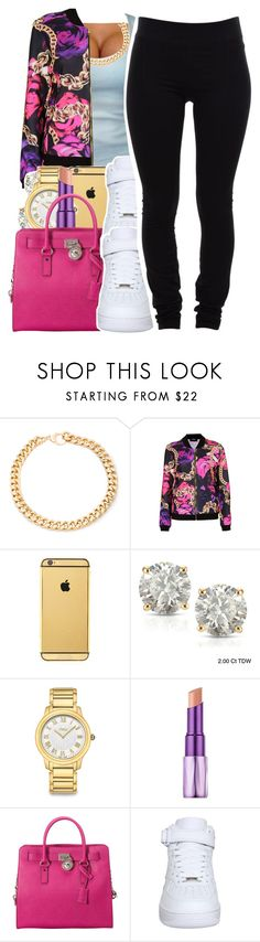 """10.13.15"" by jadeessxo ❤ liked on Polyvore featuring Alessandra Rich, Topshop, Goldgenie, Auriya, Fendi, Urban Decay, MICHAEL Michael Kors, NIKE and Helmut Lang"