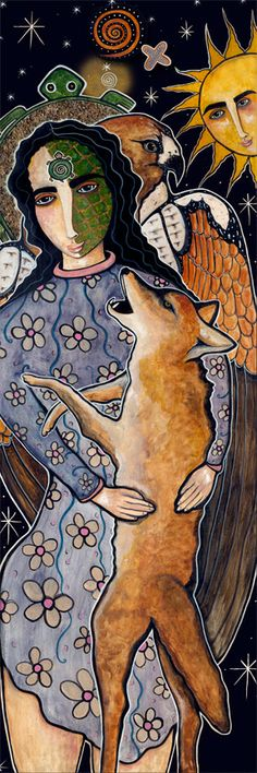"""""""Feed your soul with positive energy  so you can grow and bloom wherever  life plants you.""""     ~ Katie Mosher  Artist: Virginia   Maria Romero    Title: 'Mary walks in harmony' <3 lis"""