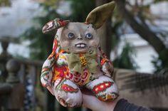 Fantasy,Primitive, Handcrafted Folk Art Doll OOAK Original, Handcrafted Design.