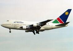 An Air Namibia Boeing 747SP-44 at Frankfurt Airport