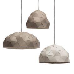 Krafla lightshade - Light gray / Dark gray - by Jón Helgi Hólmgeirsson and Þorleifur Gunnar Gíslason for Børk