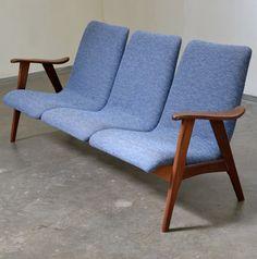 Louis van Teeffelen; Teak Sofa for Webe, 1960s.