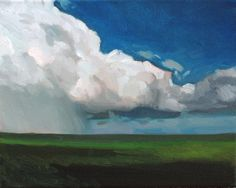 Cloud Painting Landscape original oil on gallery by FormanekArt, $100.00