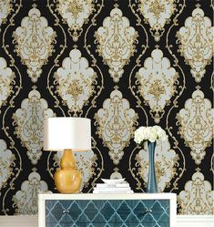 Black Damask Wallpaper Bedroom Beautiful Haokhome Luxury Heavy Texture Victorian Damask Wallpaper Black Gold Brown Silver for Home Accent Wall 20