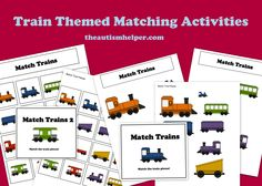 Easy Matching Work Tasks for Children with Autism by theautismhelper.com