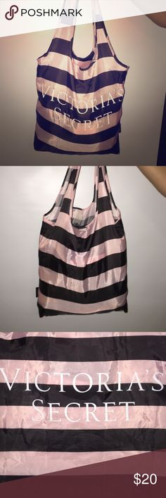 Victoria Secret Carry Bag NWOT Pink and black Victoria secret NWOT tote. Perfect for all activities. Lightweight and stylish Victoria's Secret Bags Travel Bags