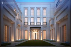 2000 m private villa kuwait sarah sadeq architects neo classical Architecture Classique, Neoclassical Architecture, Classic Architecture, Facade Architecture, Sustainable Architecture, Landscape Architecture, Ancient Architecture, Villa Design, Classic Building