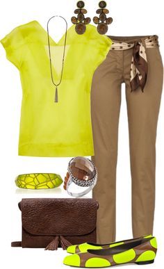"""""""Neon Yellow Polka Dot Flats"""" by maggiesuedesigns ❤ liked on Polyvore"""