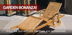 Check out our current Garden BONANZA! Outdoor Chairs, Outdoor Furniture, Outdoor Decor, Enjoying The Sun, Sun Lounger, Store, Garden, Check, Home Decor