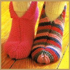 Hausschuhe stricken, warm und gemütlich