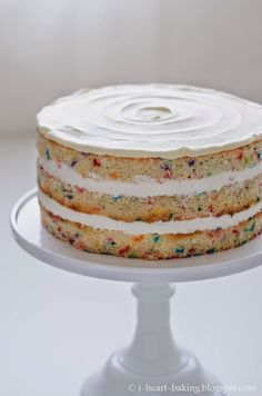 naked funfetti layer cake