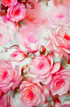 Shabby Chic Pink Print