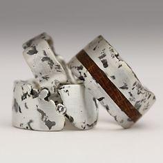 textured handmade rings - Justin Duance