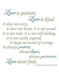 Love is patient professional art print. 5x7, 8x10, 11x14