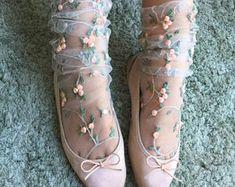 Floral Tulle Socks  https://www.etsy.com/ca/listing/534575750/floral-tulle-socks?ref=shop_home_active_1