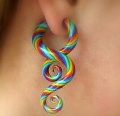 I kind of want to gauge my ears(stfu Katrin) earrings really irritate my ears and gauges are cool as sh*t