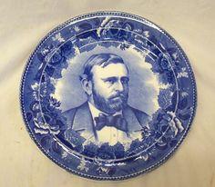 U.S. Grant commemorative plate.