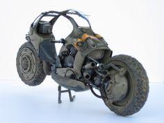 """Heuschrecke"" 1/20 scale. By Waki. Ma.K. original. #motorcycle #Ma_K #Maschinen_Krieger #Sci_Fi"