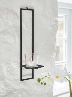 Add some Scandi style to your shelving with this set of three metal wall racks. Floor Candle Holders, Wall Mounted Candle Holders, Rustic Candle Holders, Tealight Candle Holders, Candle Sconces, Glass Candle, Wall Sconces, Mirrors, Indoor Candle Lanterns