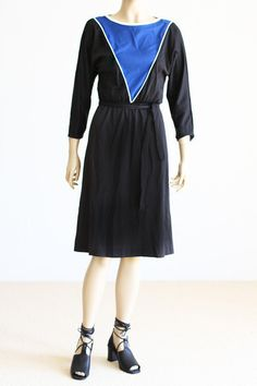 We Move Vintage 80's Color Blocked Dress