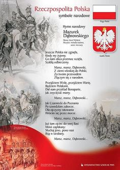 pl resource hymn_i_godlo. Poland Culture, Polish Names, Poland History, Polish Language, Polish Christmas, Visit Poland, Polish Folk Art, Polish Recipes, Reggio