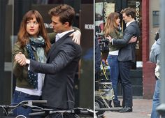 I'm skeptical about the movie! this is not what I had imagined them looking like =(  and cosmo is skeptical too... Here Are Some Photos Of Christian Grey And Anastasia Steele Dancing In The Street