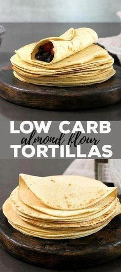 These low carb tortillas are made with just the right blend of almond and coconut flours, and the dough is amazingly easy to handle. With less than 2 net carbs per tortilla, they're going to be your new favorite gluten free tortilla! Low Carb Soup Recipes, Low Sugar Recipes, Almond Flour Recipes, No Sugar Foods, Low Carb Desserts, Coconut Flour, Diet Recipes, Dessert Recipes, Sugar Diet