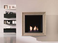 Hanging bioethanol silver leaf fireplace