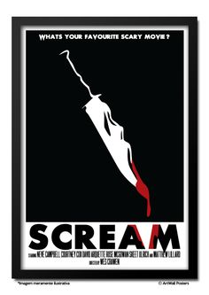 Poster Scream - QUADRO EMOLDURADO