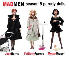 Haute Doll Magazine | The Darker Side of Mad Men. Season 5 Parody Dolls by Michael Williams.