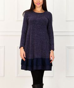 Another great find on #zulily! Navy Lace Empire-Waist Dress #zulilyfinds