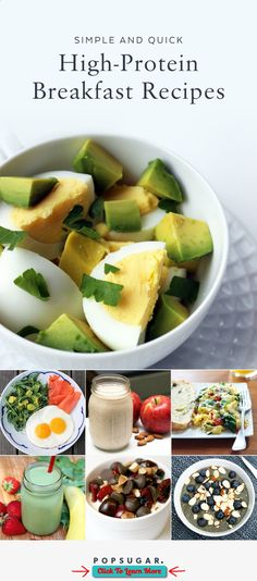 If you are looking to lose weight or get more protein in your diet, a healthy breakfast is a must. These quick breakfast recipes take under 10 minutes to prep, and contain at least 15 grams of protein. #health #fitness #weightloss #healthyrecipes #weightlossrecipes