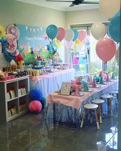 45 Ideas Party Decoracion Birthday Peppa Pig For 2019 4th Birthday Parties, Birthday Party Decorations, Third Birthday, Birthday Ideas, Fiestas Peppa Pig, Peppa Pig Balloons, Peppa Pig Birthday Cake, Pigs, Pig Ideas