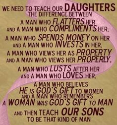 Teach your daughter the difference and just teach your son