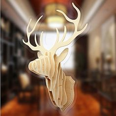 Glovion® DIY 3d Cut Model Kit- Wooden Puzzle Kit for Educational &Wall Decor - Construct a Creative& Visual Model on Your Own (Deer Head) (Deer Head), http://www.amazon.com/dp/B018G6PA1I/ref=cm_sw_r_pi_awdm_tgA7wb1QPVGN1