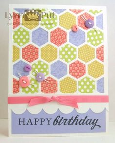 CTD#224 - Happy Hexagons by justbehappy - Cards and Paper Crafts at Splitcoaststampers