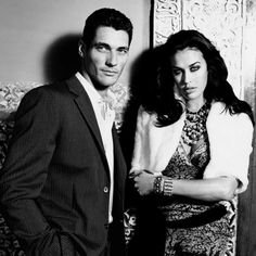 David Gandy with Megan Gale ll Photo by Paul Westlake 2005