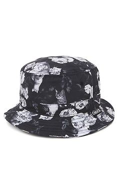 PacSun presents the Chuck Cat Floral Bucket Hat. This black and white print bucket  hat 5f229ae953b6