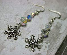 Crystal snowflake earrings £10.00