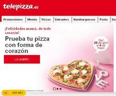 telepizza.es forma corazon dia de la madre ofertas pizzas medianas regalo mayo