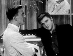 In june 16 1956  Elvis went to a local TV host dance party to promote his charity show at Russwood Park in Memphis, July 4. Elvis announced that the door prize will be his diamond initial ring