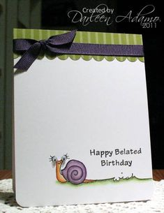 CAS129~Snail Mail by darleenstamps - Cards and Paper Crafts at Splitcoaststampers