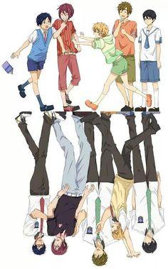 Rei, Rin, Nagisa, Makoto and Haruka