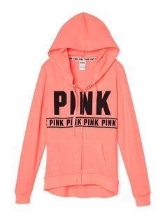 Perfect Full-Zip Hoodie - PINK - Victoria's Secret