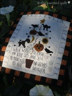 Free pattern--Ode to Halloween